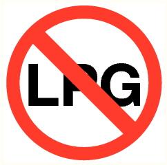 Moteur au LPG interdit