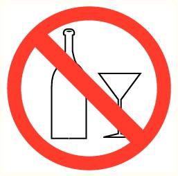 Objets en verre interdits