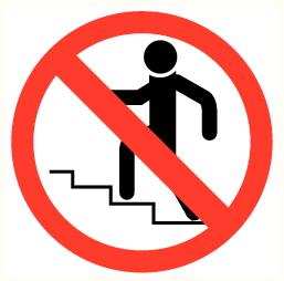 Escalier interdit