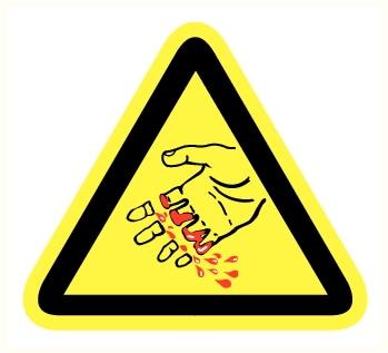 Danger de coupure