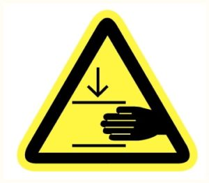 Écrasement main