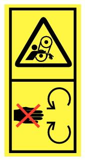 Danger d'entrainement par courroie