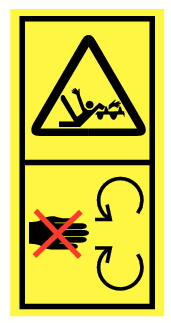 Danger d'entrainement et mutilation par élément mobile