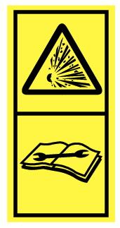 Danger d'explosion, lire manuel