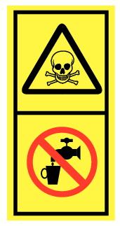 Danger de mort eau non potable