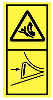 Danger d'écrasement, placer cale