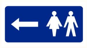 WC à gauche