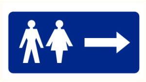 WC à droite