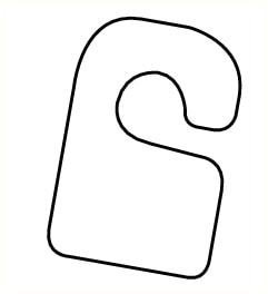 Crochet adhésif pour pictogramme