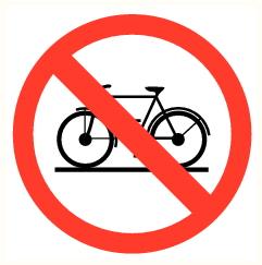 Interdit bicyclettes