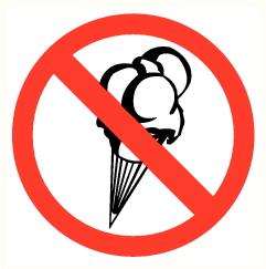 Crème glacée interdite