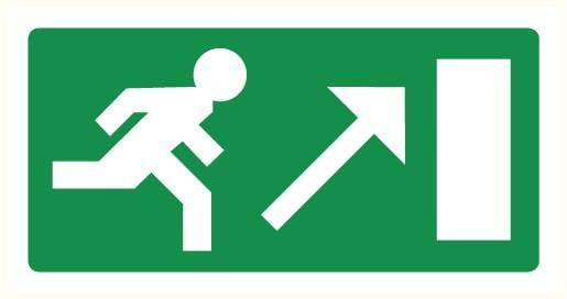 Vers sortie de secours montant droite
