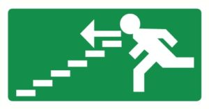 Vers escalier descendant gauche