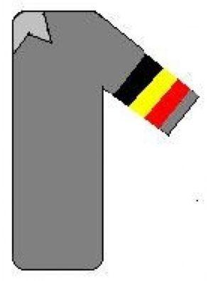 Brassard de 500x90 mm drapeaux avec votre texte.