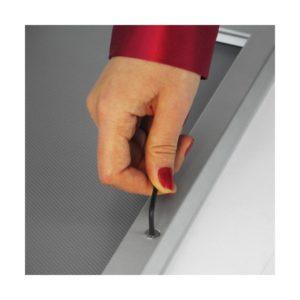 Cadre clicframe verrouillable, format DIN A3, bord 32mm, couleur aluminium anodisé