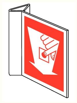 Drapeaux Bouton d'alarme incendie