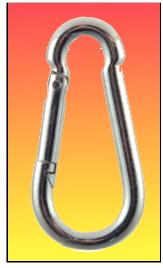 Connecteur type mousqueton 50mm