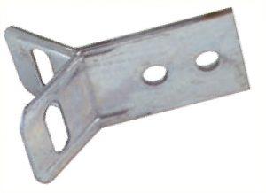 Support de 100mm de longueur pour pose en équerre d'un panneau ou pictogramme sur poteau à l'aide d'un collier de serrage