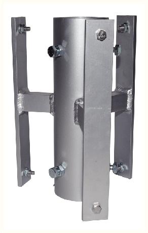 système de fixation de pictogrammes sur trois angles de vues pour poteau 51 mm