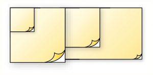 Feuille autocollante double face 130x130mm pour pictogramme rigide