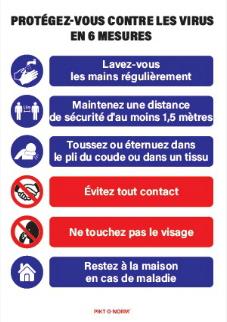 """Pictogrammes/panneaux/matériels concernant la lutte contre la pandémie """"COVID-19"""""""