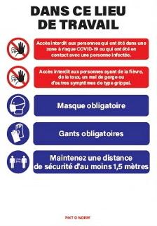 Panneau d'informations concernant les conseils et directives de prévention face à la pandémie « COVID-19 »