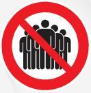 Interdiction de rassemblement/réunion de personnes